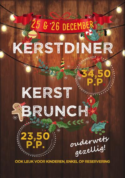 kerst arrangement brunch diner
