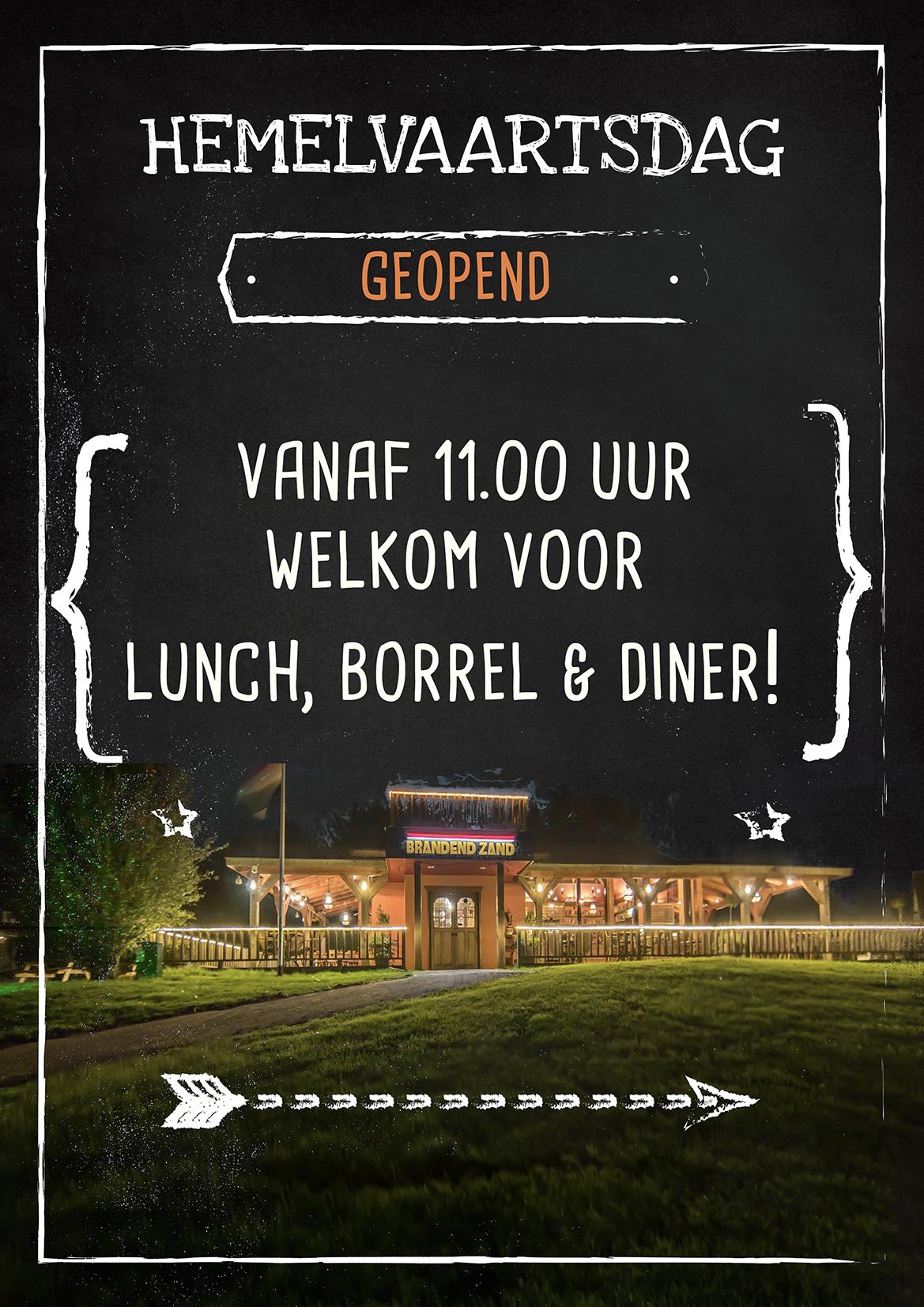 hemelsvaartsdag geopend menu lunch borrel diner Zaltbommel den Bosch